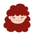 face young woman female character isolatd icon vector image vector image