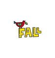 fall doodle vector image vector image