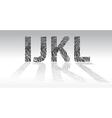 Fingerprint alphabet vector image vector image