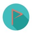 Flag flat single icon vector image vector image