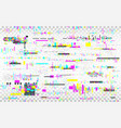 glitch vhs background color distortions on vector image vector image
