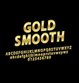 glossy sign gold smooth chic golden vector image vector image