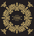 gold mexican tribal frame design - ethno atzec vector image