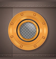 gold porthole realistic composition vector image vector image