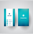 gradient business card vector image vector image
