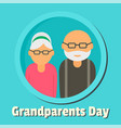 Happy day of grandparents background flat style