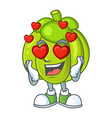 in love green pumpkin ripe on a white background vector image vector image