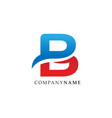 initial letter b lettermark logo vector image vector image