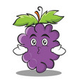kissing grape character cartoon collection vector image vector image