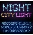 Light font set vector image vector image