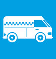 minibus taxi icon white vector image vector image