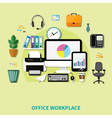 Office Workplace Composition vector image vector image