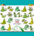 one of a kind game with dragons fantasy characters vector image