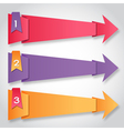 Origami paper colorful arrows with numbers vector image