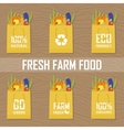Paper package with fresh healthy produce vector image vector image