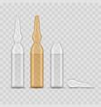 realistic 3d detailed medicine ampoule set vector image vector image
