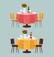 reserved sign on table in restaurant vector image