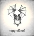 Scary bat in a sketch style vector image vector image