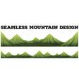 Seamless mountain range design vector image vector image