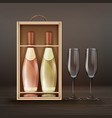set of champagne vector image vector image