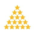 Set of rating stars Gold five-pointed in the vector image