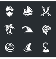 set pirates vector image vector image