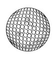 sketch of a golf ball vector image