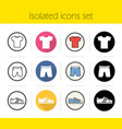 sport clothes store icons set vector image vector image