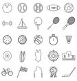 Sport line icons on white background vector image