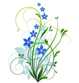 Spring grass with flowers vector image