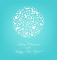 stylized sphere from icons with mint background vector image vector image