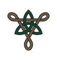 triangle trinity knot symbols vector image vector image