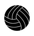 volley ball glyph black icon vector image vector image