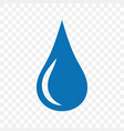 water blue drop icon symbol and sign vector image