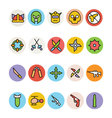 Weapons Icons 3 vector image