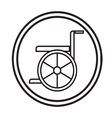 Wheelchair Handicap Icon symbol vector image
