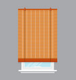 window with roll curtain isolated vector image vector image