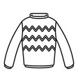 winter sweater icon outline style vector image