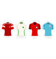 world cup group a team uniform vector image vector image