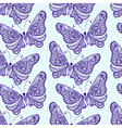 Zentangle stylized Butterfly seamless pattern Hand vector image vector image