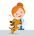 Cartoon veterinarian vector image