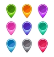 Colorful map pointers set vector image