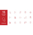 15 pointer icons vector image vector image