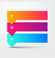 3 step arrow list colorful banners infographic vector image
