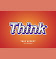 3d text effect with purple and lines stroke vector image vector image