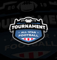 american football championship emblem logo on a vector image vector image