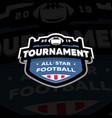american football championship emblem logo vector image vector image