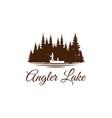 angler fishing emblem logo design inspiration vector image vector image