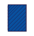 back to school notepad with spiral supply vector image