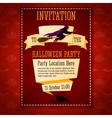 Banner invitation to the halloween party with vector image vector image